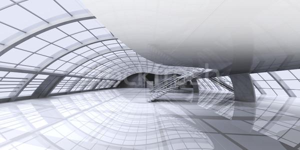 Korytarzu architektury 3D świadczonych ilustracja biuro Zdjęcia stock © Spectral