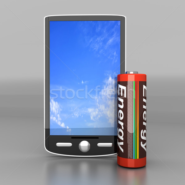 Bateria 3D prestados ilustração Foto stock © Spectral