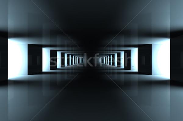 Korytarzu nowoczesne wnętrza 3d ilustracji działalności domu Zdjęcia stock © Spectral