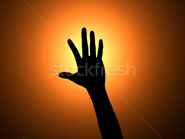 Hands up Stock photo © Spectral