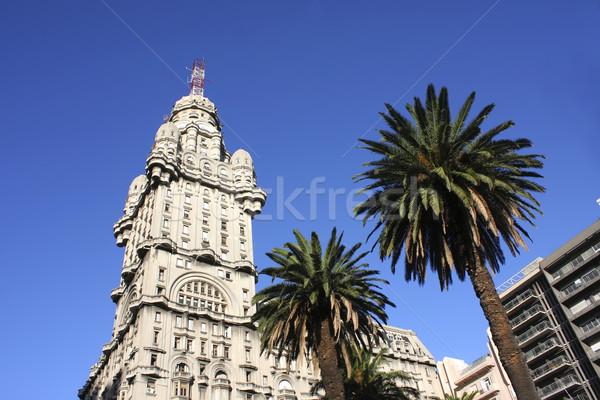 Montevideo Uruguay ağaç palmiye mavi mimari Stok fotoğraf © Spectral