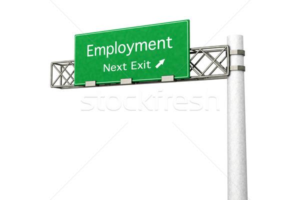 шоссе знак занятость 3D оказанный иллюстрация следующий Сток-фото © Spectral