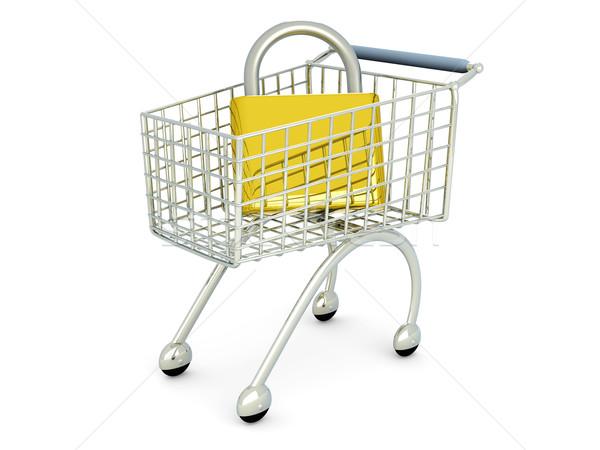Beveiligde winkelen 3D gerenderd illustratie geïsoleerd Stockfoto © Spectral