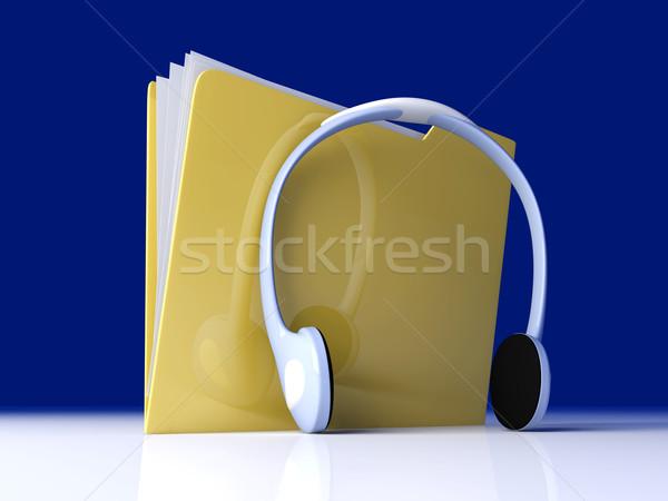 Musica cartella 3D reso illustrazione carta Foto d'archivio © Spectral