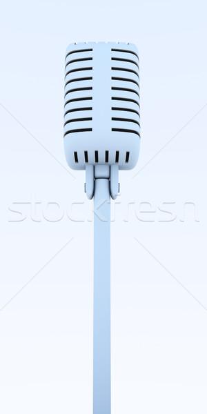 микрофона 3d иллюстрации музыку радио концерта говорить Сток-фото © Spectral