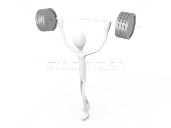 Weight lifter Stock photo © Spectral