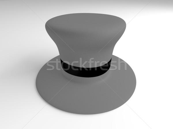 Cilinder hoed klassiek 3D gerenderd illustratie Stockfoto © Spectral
