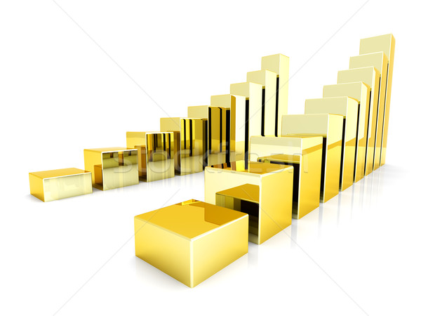 Gold charts Stock photo © Spectral