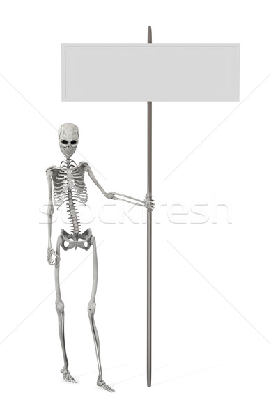 Skelett Förderung 3D gerendert Illustration Zombie Stock foto © Spectral