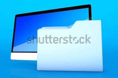 A modern all in one computer with a data folder	 Stock photo © Spectral