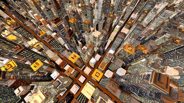 Büyük şehir genel kentsel mimari gökdelenler Stok fotoğraf © Spectral