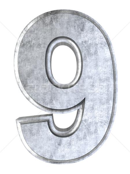 ストックフォト: 番号 · 3D · レンダリング · 実例 · 孤立した · 白