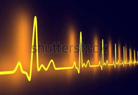 кардиограмма линия 3D оказанный иллюстрация сердцебиение Сток-фото © Spectral