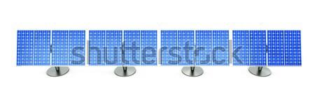Line 3D reso illustrazione pannelli solari Foto d'archivio © Spectral