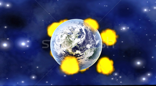 Meteor impacts	 Stock photo © Spectral