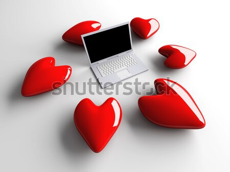 Laptop in Love	 Stock photo © Spectral