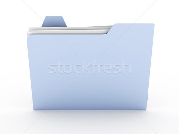 Dossier 3D rendu illustration isolé blanche Photo stock © Spectral