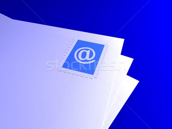 электронная почта письма 3d иллюстрации интернет знак контакт Сток-фото © Spectral