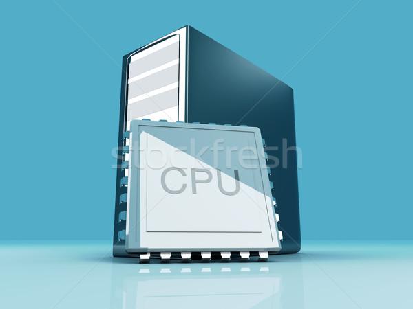 Masaüstü cpu 3D render örnek bilgisayar Stok fotoğraf © Spectral