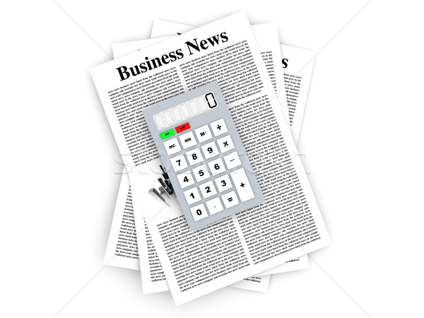 Analyzing business news	 Stock photo © Spectral