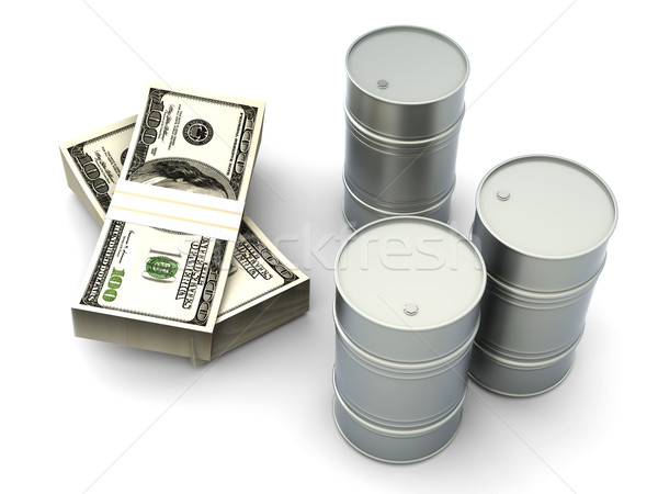 Preis Öl Dollar stellt fest 3D gerendert Stock foto © Spectral