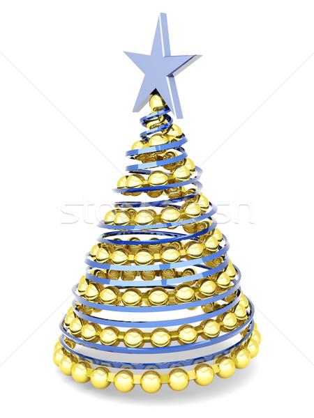 Noel ağacı 3D render örnek yalıtılmış beyaz Stok fotoğraf © Spectral