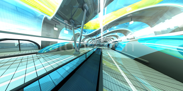 Futuristic Subway Station Stock photo © Spectral