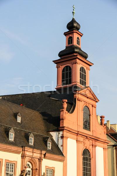 Kilise Frankfurt ana Almanya Stok fotoğraf © Spectral