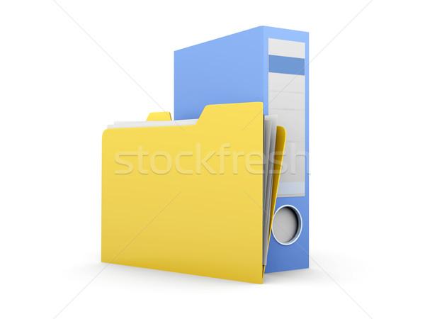 Papier travaux 3D rendu illustration affaires Photo stock © Spectral