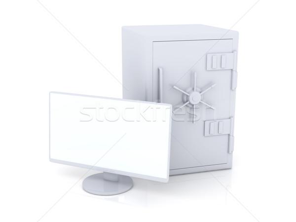 Beveiligde 3D gerenderd illustratie digitale veiligheid Stockfoto © Spectral