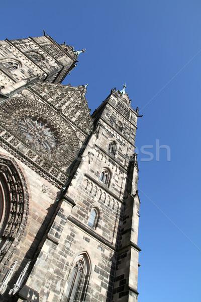 Cathédrale saint bâtiment ville porte église Photo stock © Spectral