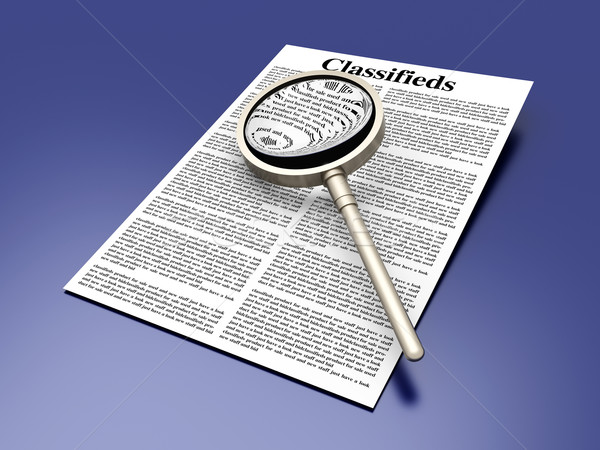 Searching the Classifieds Stock photo © Spectral