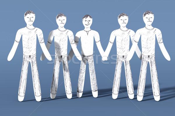 Feliz uno triste 3D prestados ilustración Foto stock © Spectral