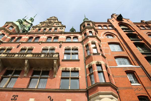 Histórico edificio hamburgo Alemania Europa oficina Foto stock © Spectral