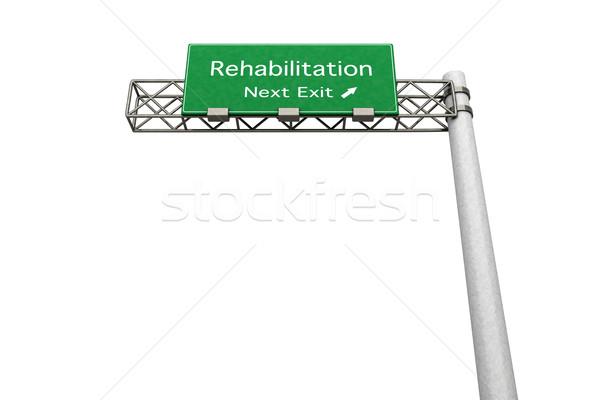 Signe de route réhabilitation 3D rendu illustration prochaine Photo stock © Spectral