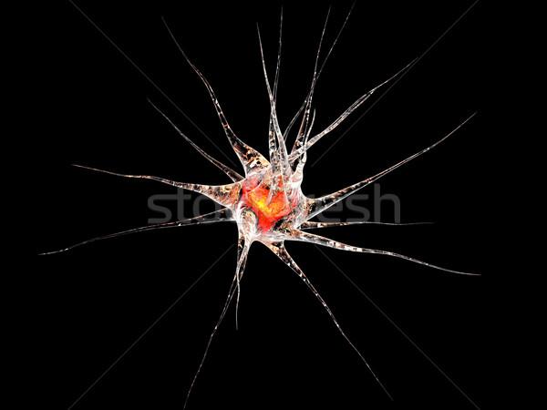 Cellule 3d illustration réseau cerveau énergie microscope Photo stock © Spectral