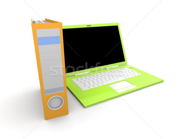 Dijital belge 3d illustration yalıtılmış beyaz bilgisayar Stok fotoğraf © Spectral