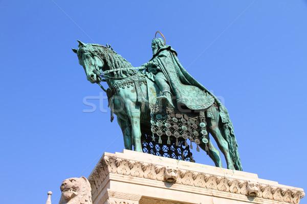 Posąg święty rybak bastion Budapeszt Węgry Zdjęcia stock © Spectral