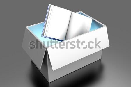 図書 ボックス 配信 3D レンダリング 実例 ストックフォト © Spectral