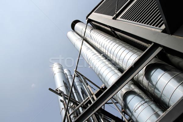 Endüstriyel klima Metal borular havalandırma Bina Stok fotoğraf © Spectral