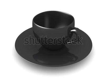 чашку кофе 3D оказанный иллюстрация изолированный белый Сток-фото © Spectral