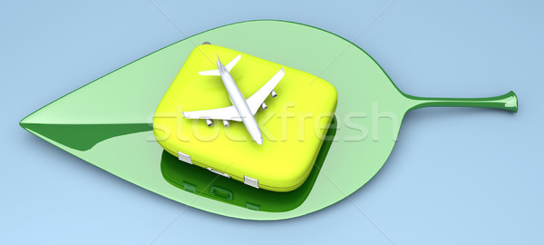 Sustainable air travel Stock photo © Spectral
