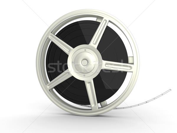 Film Reel 3D оказанный иллюстрация изолированный белый Сток-фото © Spectral