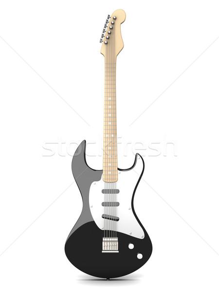 Guitarra 3D prestados ilustración aislado blanco Foto stock © Spectral