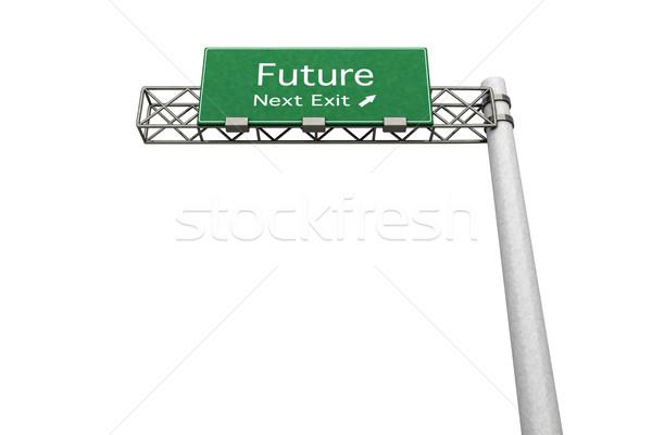 幹線道路の標識 将来 3D レンダリング 実例 次 ストックフォト © Spectral
