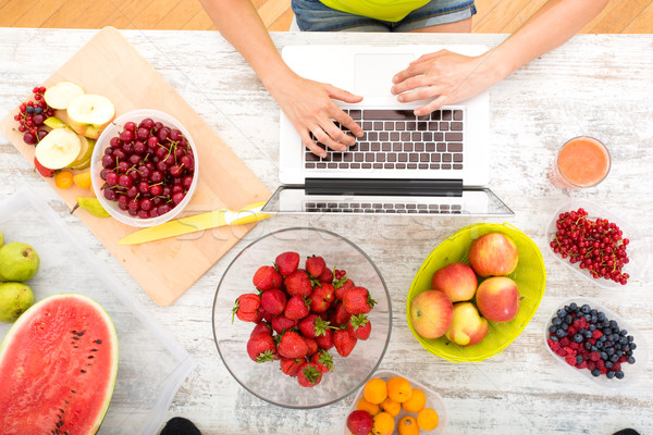 Researching Fruits Stock photo © Spectral