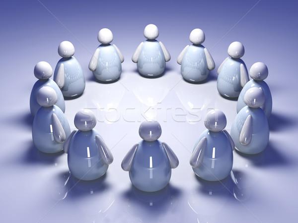 Ikon csapat 3D renderelt illusztráció tömeg Stock fotó © Spectral