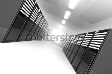 Server kamer 3d illustration netwerk boerderij communicatie Stockfoto © Spectral