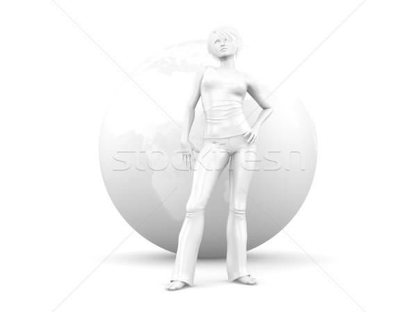 Global Girl Stock photo © Spectral