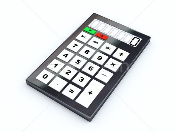Calculator 3d illustration geïsoleerd witte school onderwijs Stockfoto © Spectral